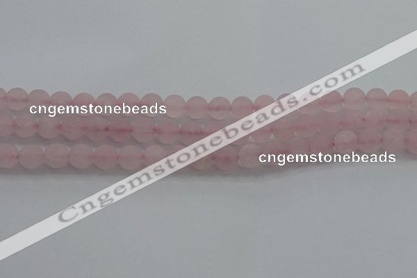 CRQ182 15.5 inches 8mm round matte rose quartz beads wholesale