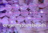 CRQ437 15.5 inches 15*20mm faceted oval rose quartz beads wholesale
