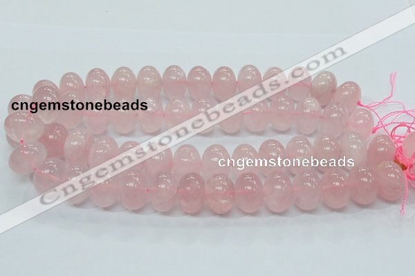 CRQ56 15.5 inches 14*20mm rondelle natural rose quartz beads