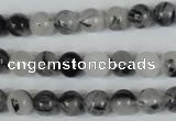CRU303 15.5 inches 8mm round black rutilated quartz beads