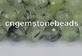 CRU802 15.5 inches 8mm faceted round prehnite gemstone beads