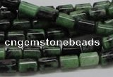 CRZ07 15.5 inches 6*8mm column ruby zoisite gemstone beads Wholesale