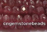 CRZ1104 15.5 inches 5*8mm faceted rondelle AAA+ grade ruby beads