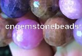 CRZ1134 15.5 inches 12mm faceted round ruby sapphire beads