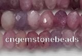 CRZ1151 15.5 inches 3.5*5.5mm faceted rondelle natural ruby beads