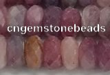 CRZ1153 15.5 inches 4*8mm faceted rondelle natural ruby beads