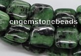 CRZ15 15.5 inches 15*15mm square ruby zoisite gemstone beads wholesale