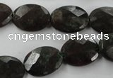 CRZ225 15.5 inches 13*18mm faceted oval ruby zoisite gemstone beads