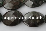 CRZ227 15.5 inches 18*25mm faceted oval ruby zoisite gemstone beads