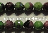 CRZ356 15.5 inches 12mm faceted round natural ruby zoisite beads