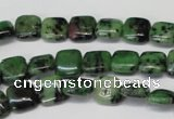 CRZ45 15.5 inches 10*10mm square ruby zoisite gemstone beads