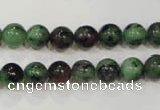 CRZ452 15.5 inches 8mm round ruby zoisite gemstone beads