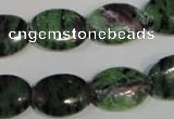 CRZ482 15.5 inches 13*18mm oval ruby zoisite gemstone beads