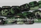 CRZ50 15.5 inches 8*12mm rectangle ruby zoisite gemstone beads