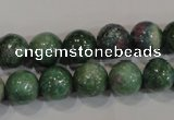 CRZ603 15.5 inches 10mm round New ruby zoisite gemstone beads