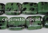 CRZ68 15.5 inches 15*20mm rectangle ruby zoisite gemstone beads