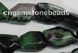 CRZ77 15.5 inches 15*20mm freeform ruby zoisite gemstone beads