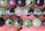 CRZ770 15.5 inches 4mm round ruby zoisite beads wholesale