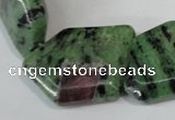 CRZ78 15.5 inches 22*30mm freeform ruby zoisite gemstone beads