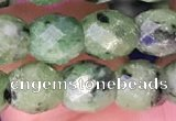 CRZ785 15.5 inches 6*6mm faceted drum ruby zoisite beads