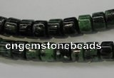 CRZ82 15.5 inches 7*8mm tyre ruby zoisite gemstone beads