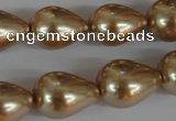 CSB114 15.5 inches 15*19mm teardrop shell pearl beads wholesale