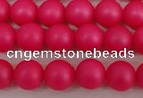 CSB1300 15.5 inches 4mm matte round shell pearl beads wholesale