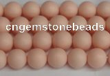 CSB1366 15.5 inches 6mm matte round shell pearl beads wholesale