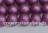 CSB1633 15.5 inches 10mm round matte shell pearl beads wholesale