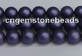 CSB1660 15.5 inches 4mm round matte shell pearl beads wholesale