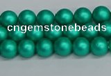 CSB1750 15.5 inches 4mm round matte shell pearl beads wholesale