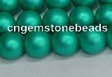 CSB1753 15.5 inches 10mm round matte shell pearl beads wholesale