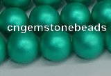 CSB1755 15.5 inches 14mm round matte shell pearl beads wholesale