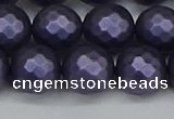 CSB1894 15.5 inches 12mm faceted round matte shell pearl beads