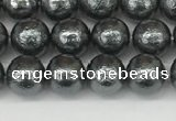CSB2290 15.5 inches 4mm round wrinkled shell pearl beads wholesale
