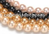 CSB30 16 inches 14mm round shell pearl beads Wholesale