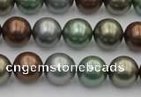 CSB367 15.5 inches 12mm round mixed color shell pearl beads