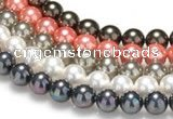 CSB39 16 inches 12mm round shell pearl beads Wholesale