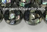 CSB4034 15.5 inches 14mm ball abalone shell beads wholesale