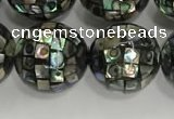 CSB4043 15.5 inches 16mm ball abalone shell beads wholesale