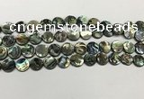 CSB4169 15.5 inches 10mm coin abalone shell beads wholesale