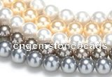 CSB49 16 inches 12mm round shell pearl beads Wholesale