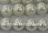 CSB620 15.5 inches 14mm whorl round shell pearl beads