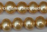 CSB803 15.5 inches 13*15mm oval shell pearl beads wholesale
