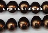 CSB807 15.5 inches 13*15mm oval shell pearl beads wholesale