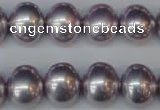 CSB815 15.5 inches 13*15mm oval shell pearl beads wholesale