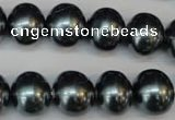 CSB817 15.5 inches 13*15mm oval shell pearl beads wholesale