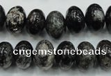 CSI06 15.5 inches 10*14mm rondelle silver scale stone beads wholesale