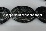 CSI98 15.5 inches 22*30mm oval silver scale stone beads wholesale