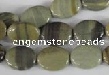 CSL117 15.5 inches 12*16mm oval silver leaf jasper beads wholesale